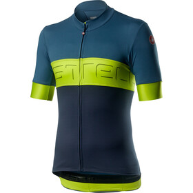 Castelli Prologo VI Maillot Manga Corta Hombre, light steel blue/chartreuse/dark steel blue